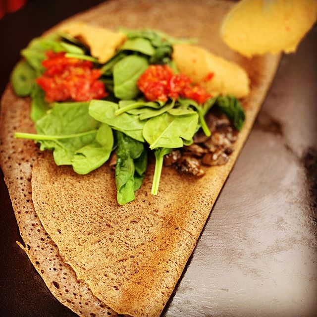 Try our Mediterranean Crepe on Buckwheat this weekend. . . . . #crepes #buckwheat #vegan #glutenfree #weekend #positivevibes #localbusiness #willitstowncenter #basalt #colorado