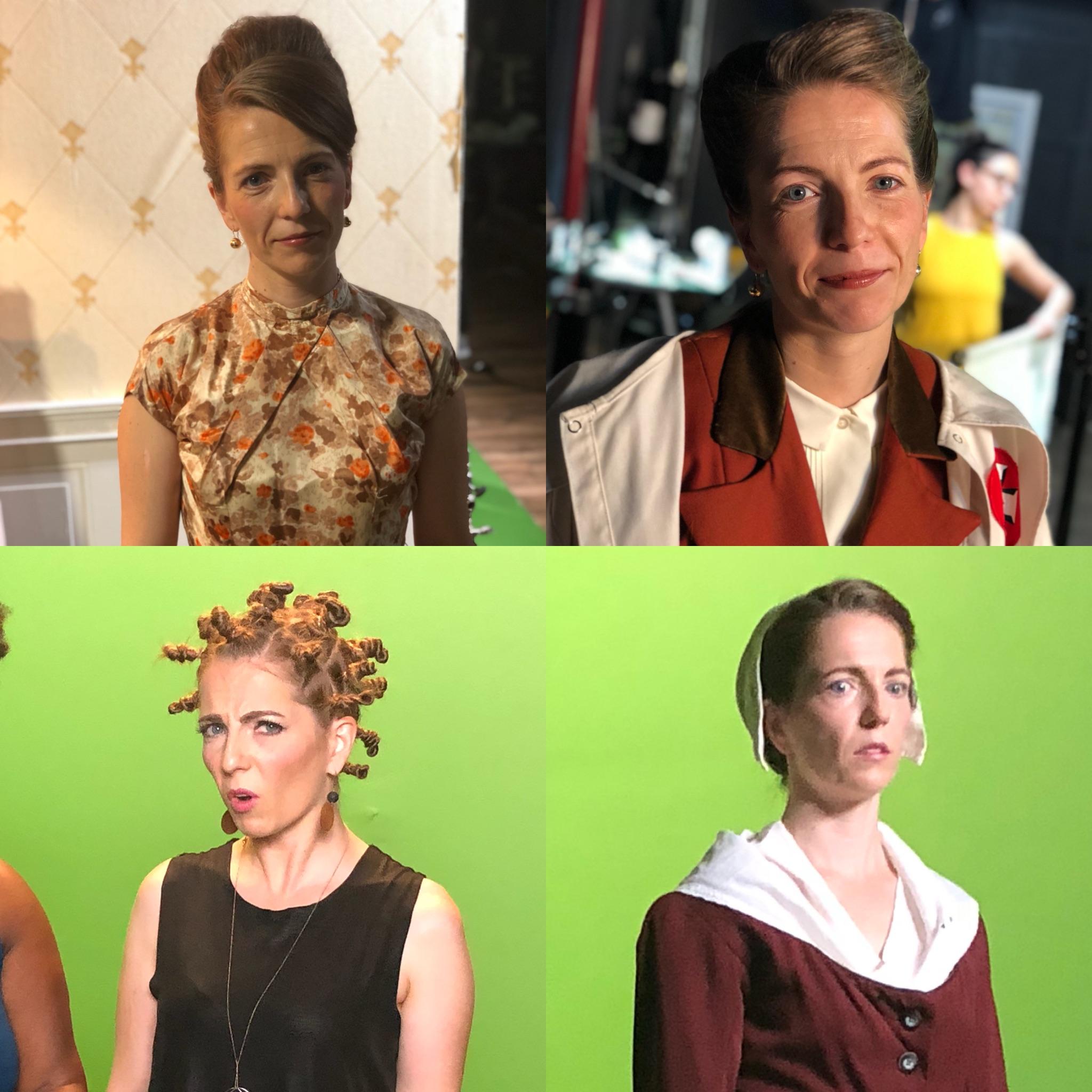Eevin Hartsough as a handfull of Beckys