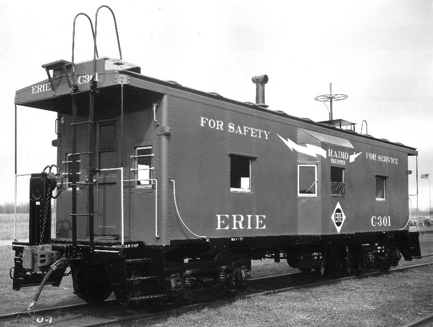 1953 builder's photo of sister caboose No. C301.  (International Car Company photo)