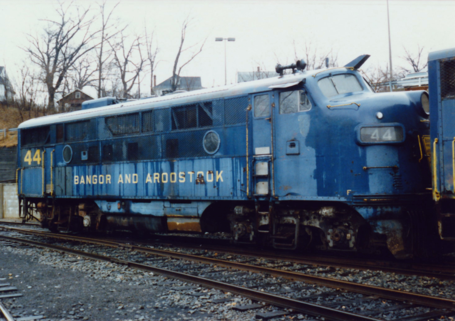 BAR No. 44 rests in the M&E's Morristown yard shortly after its acquisition by Tri-State in 1984. (Robert Allard Jr. photo)