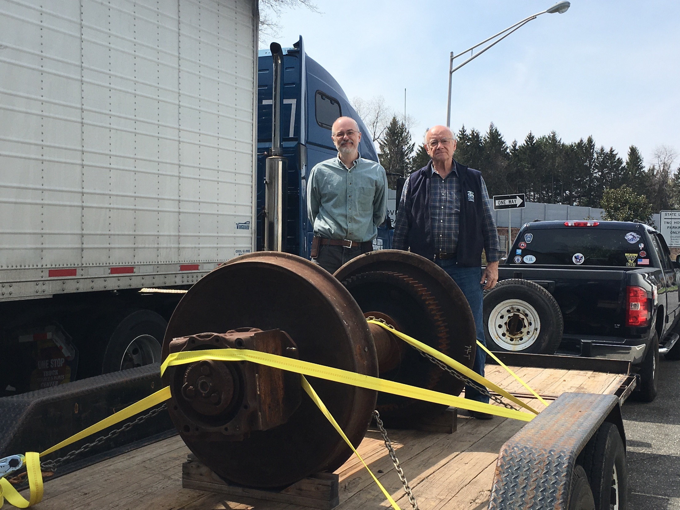 Steve Falco and Bob Bodenstein on the road headed to UTC.