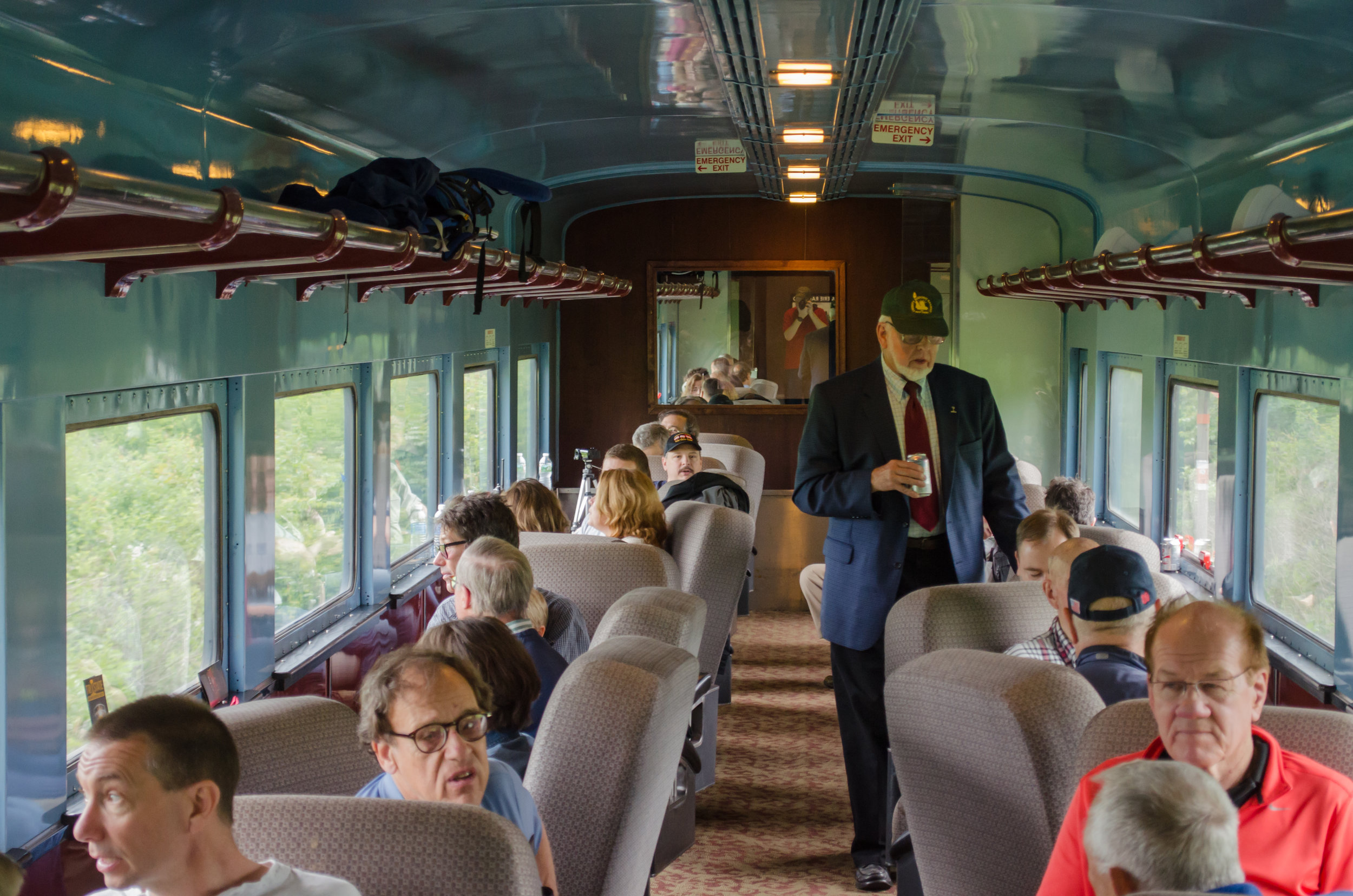 "Bill McKelvey and guests of Liberty Historic Railway in the M&E ""Morris County"""