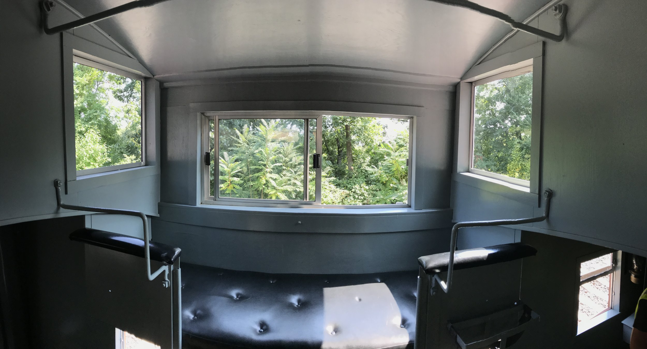 A panoramic view of the new view from the cupola.
