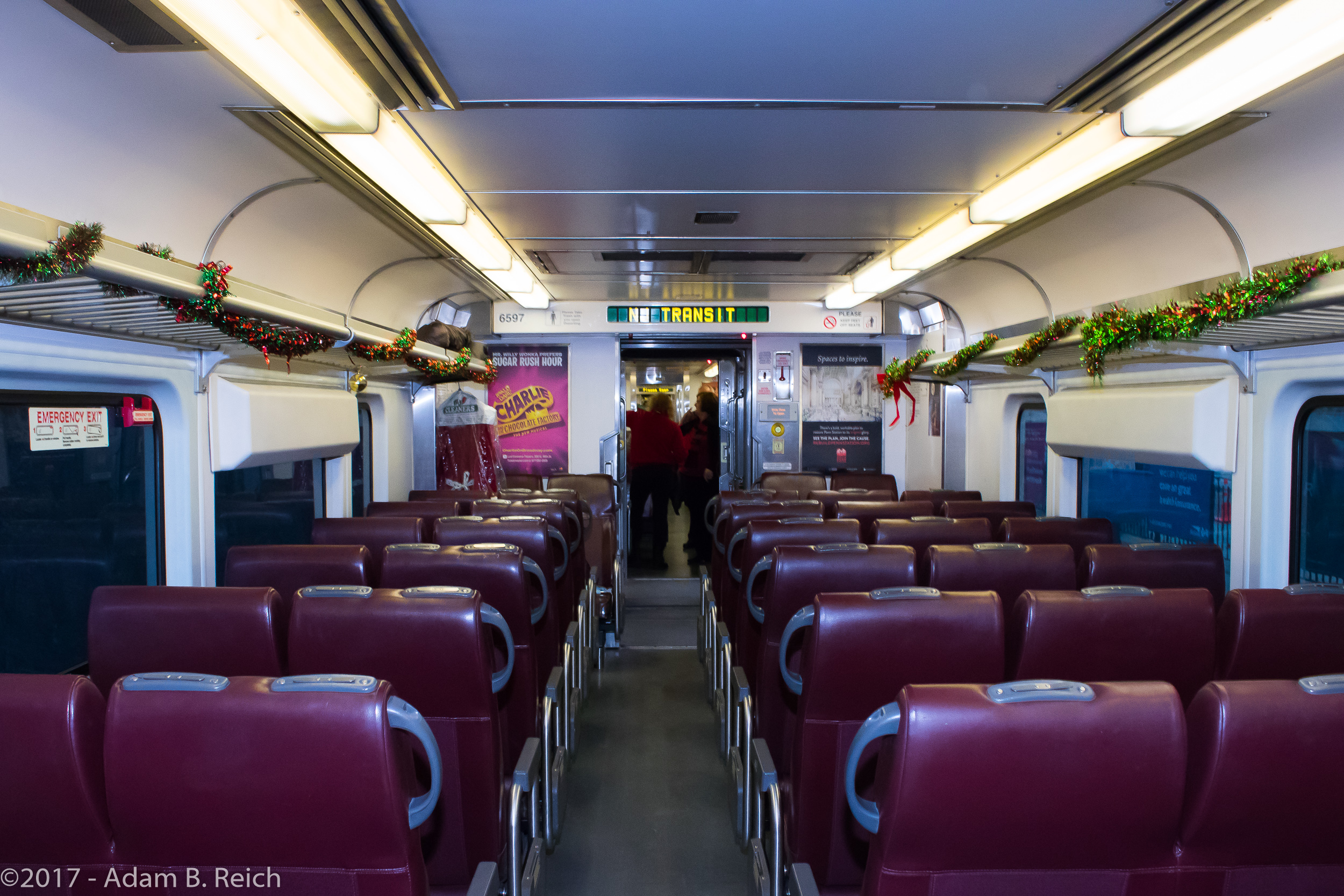 ABOARD ONE OF NJ TRANSIT'S MODERN, RESTROOM EQUIPPED TRAINS