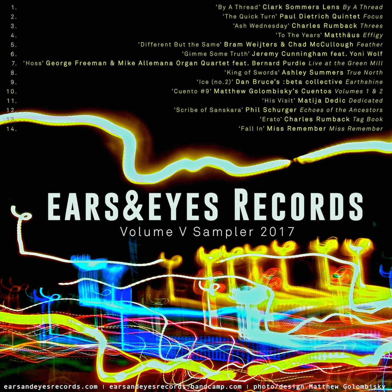 ears&eyes Records | Volume V Sampler    Download  our 2017 wrap.