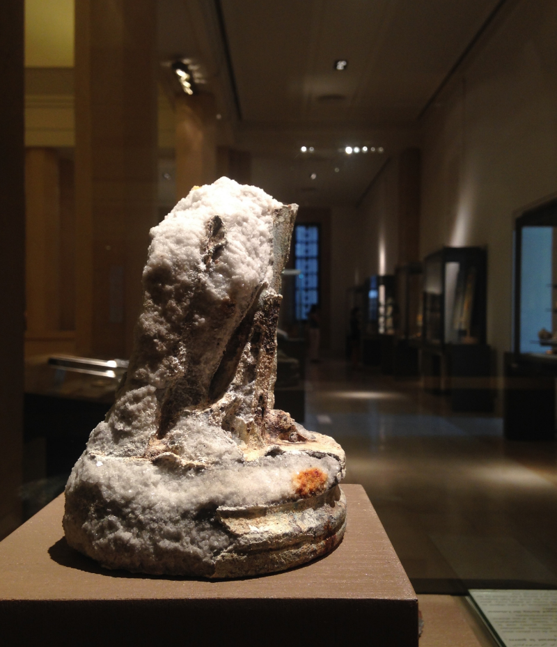 An objects from the collection of the National Museum (Lebanon), damaged by fire during the civil war. Photo by Natasha Marie Llorens