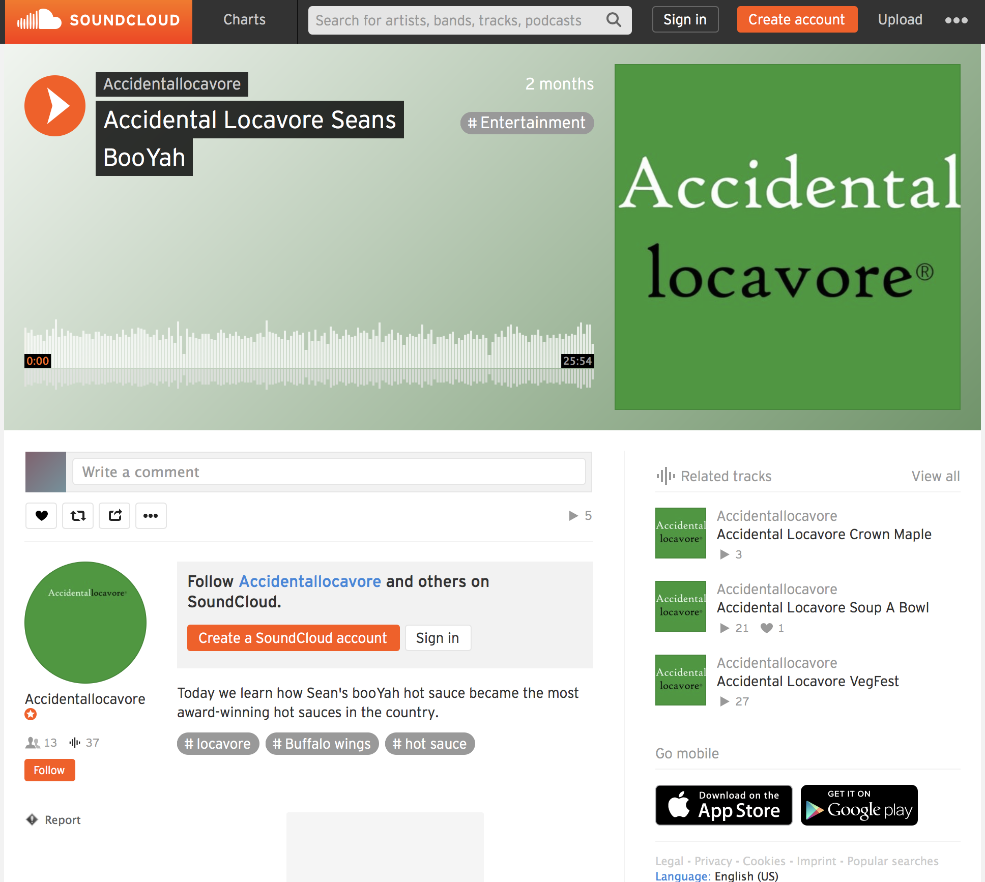RADIO INTERVIEW ON ACCIDENTAL LOCAVORE