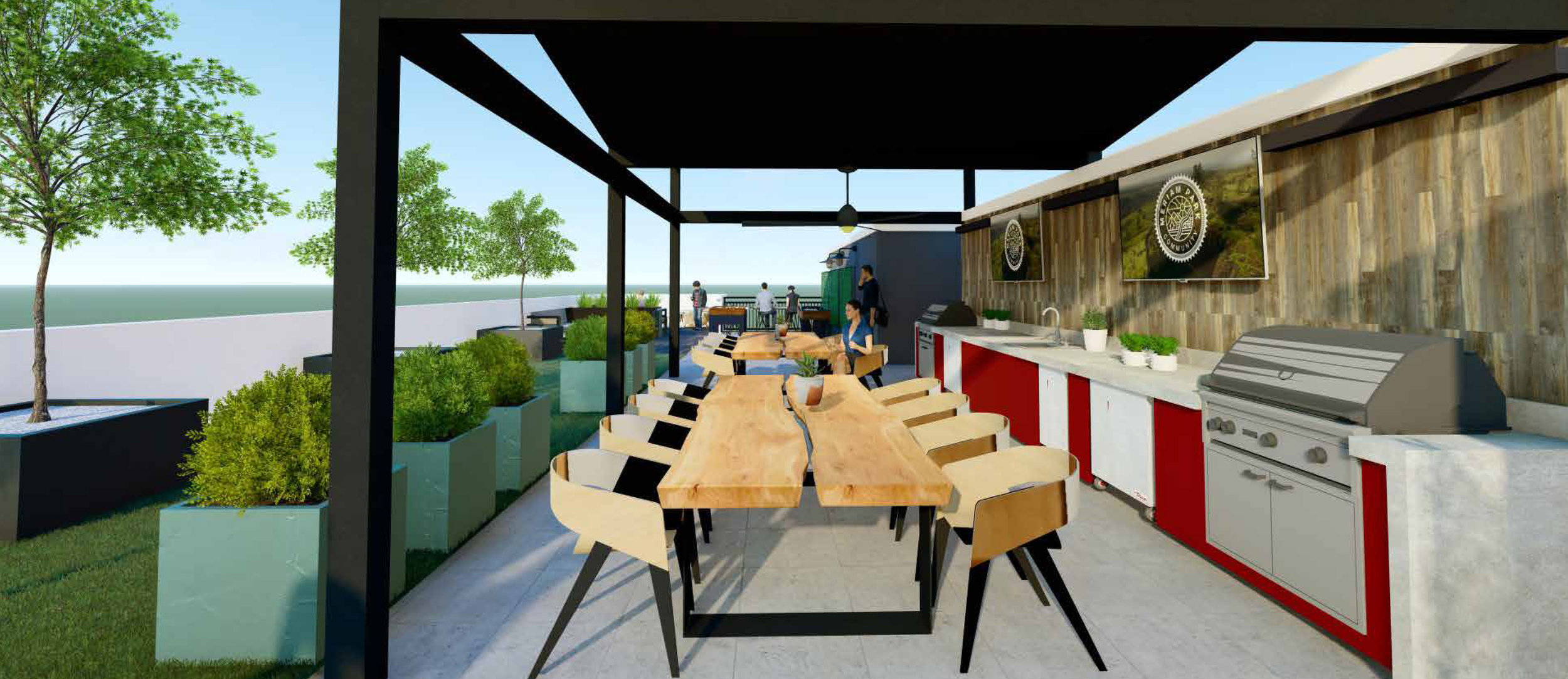 Roof Terrace   Kitchen + Dining