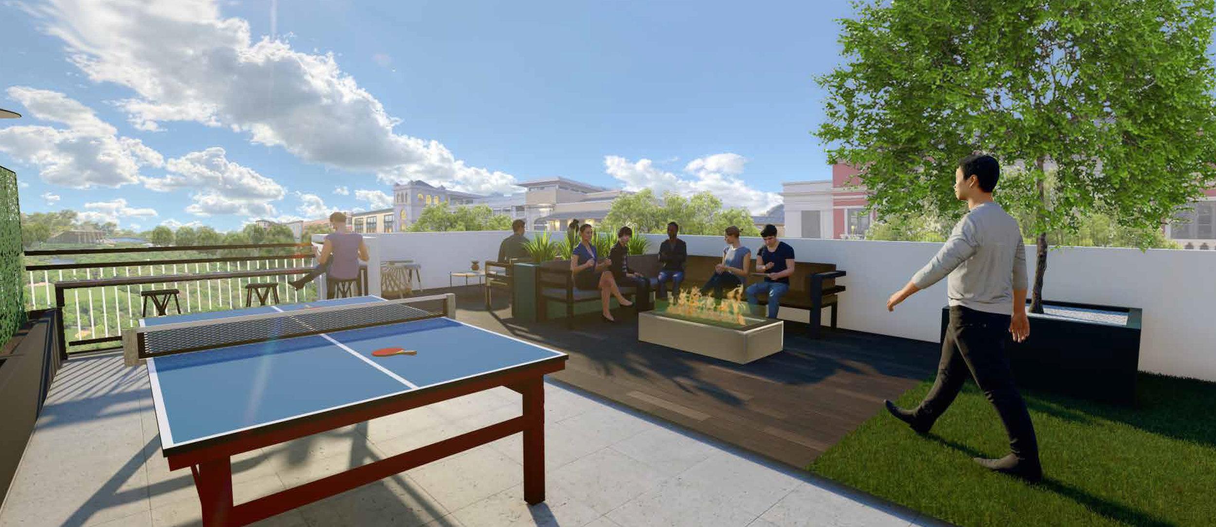Roof Terrace   Firepit Lounge