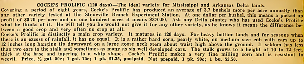 Buchanan's Seeds , Memphis Tennessee 1917, p. 50.