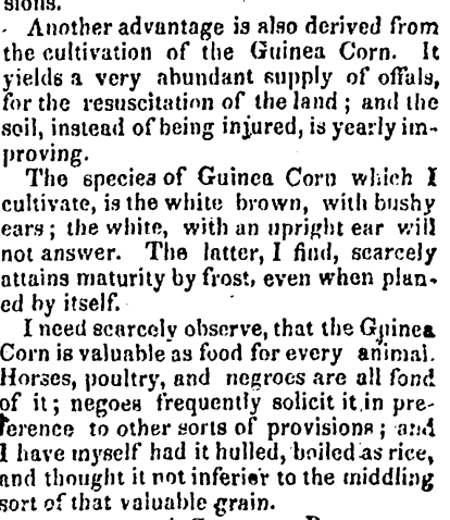 "(""Agriculture""  The Southern Recorder.  May 31, 1828. 1)"
