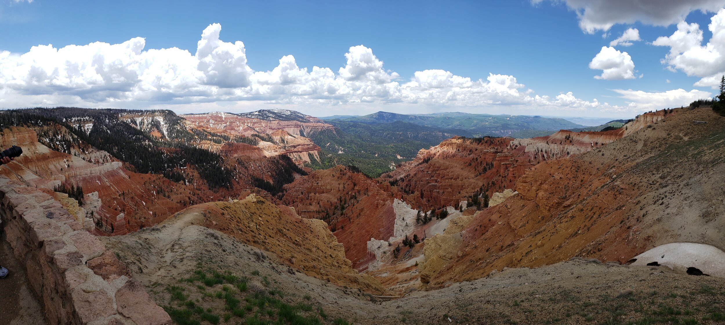 A magnificant view from Cedar Breaks National Monument, just 10km from the location of our June CoW.