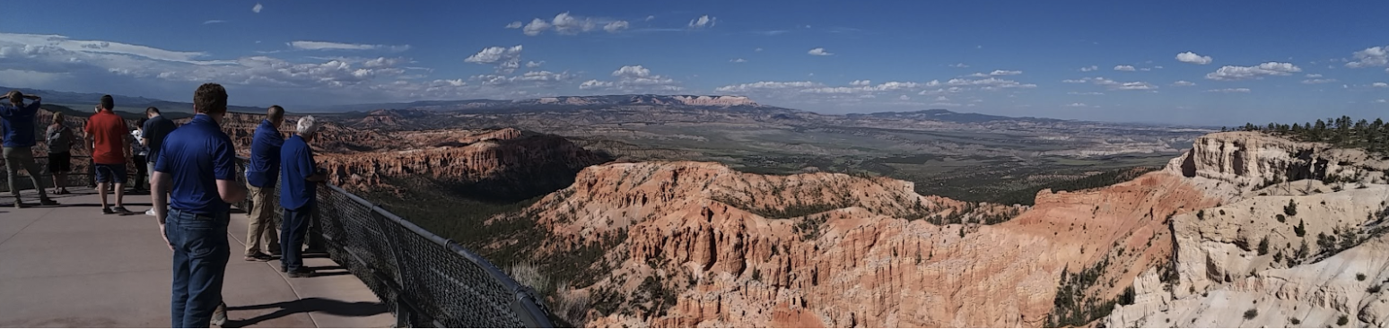 Admiring the view from the rim of Bryce Canyon