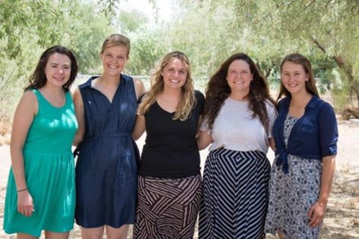 Taylor McNeel, Cheyenne Edmundson, Rebekah Aanerud, Lana Petrie, and Sage Mijares