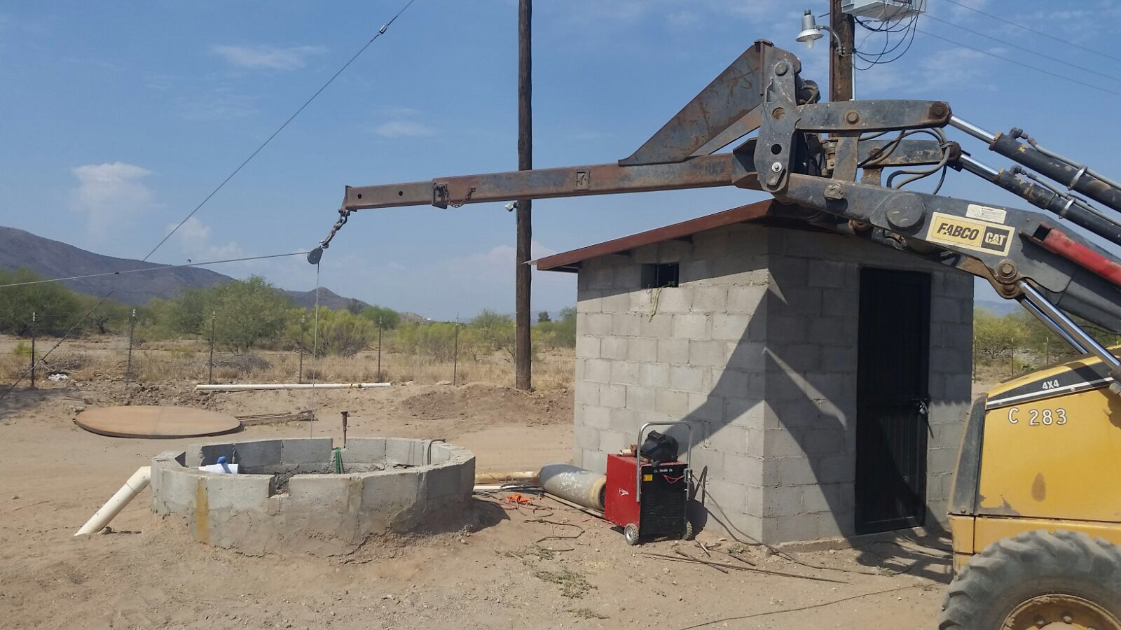 The ranch employees worked for several days to drive the shaft deeper, thus increasing water available for use.