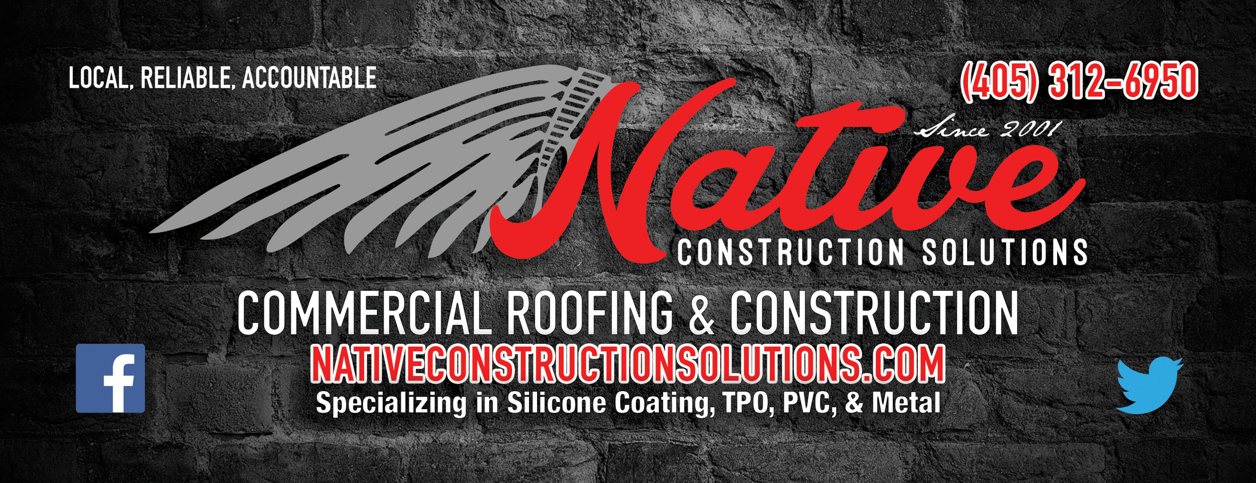 Native Construction Solutions 4'x12' Billboard