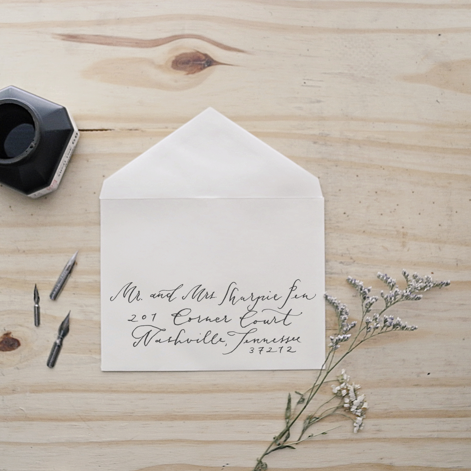 Envelope calligraphy | Authentic by Frani