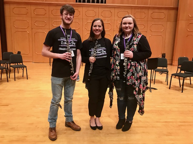 High School participants at NSU Double Reed Day 2019.