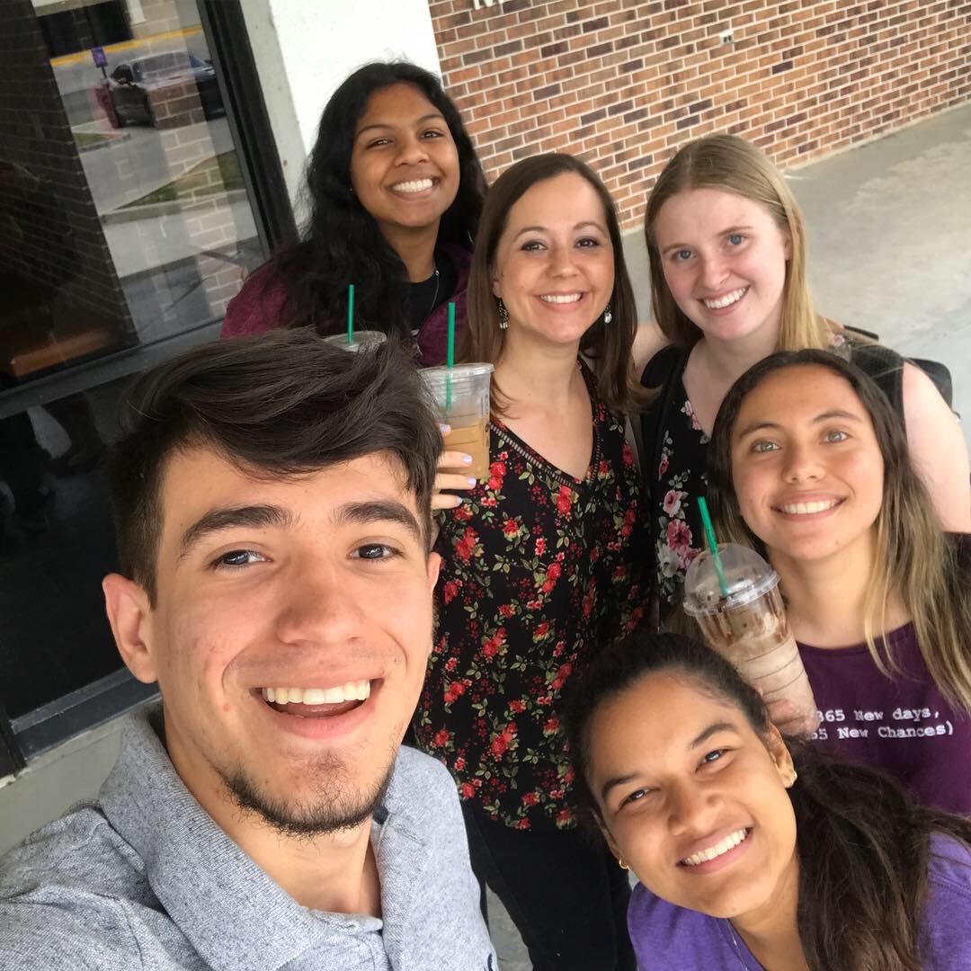 End of semester Starbucks celebration!