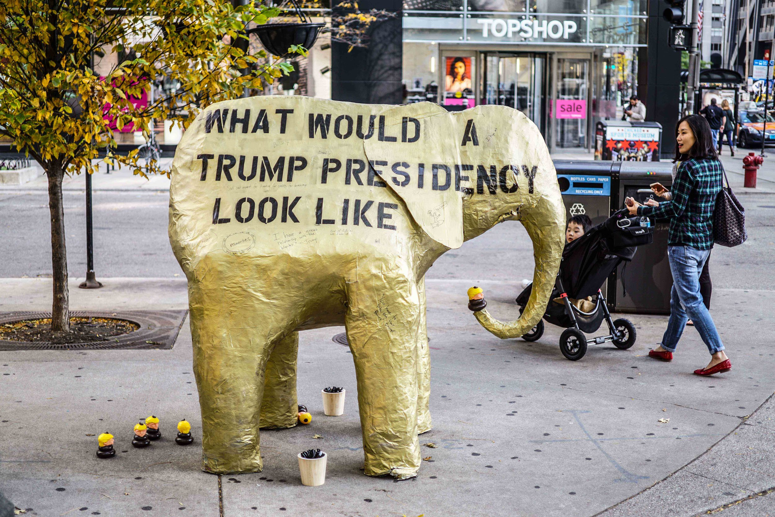 Elephant Golden Trump Pence 2016 2017 Street Art Donnie The Poo Polotical Art Donald Trump Piece of shit 2017 Birch Reincliff Banksy Shepard Fairey Art 15.jpg