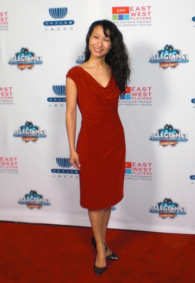 Red Carpet at Allegiance in LA, as choreographer