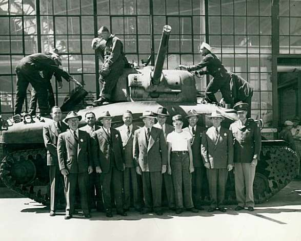 The Tank Team, circa 1946    Source Unknown