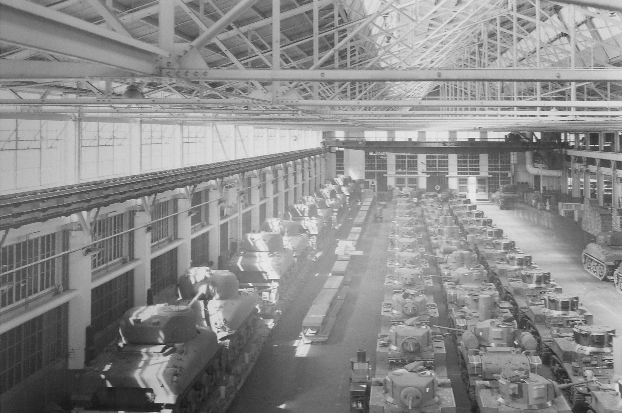91,000 tanks built at the Ford Assembly Plant during WWII Source: www.cranewaypavilion.com