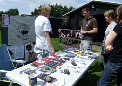 The Mid Anglian Bat Group drew a lot of interest