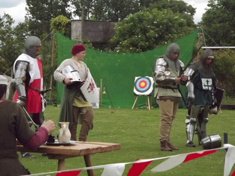 Battling Knights are always popular - here they are preparing to 'Have At Thee!'
