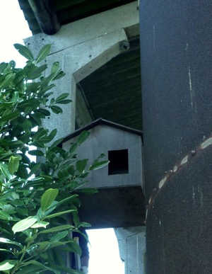 A more modern placing for this box, under the eaves of a large grain silo