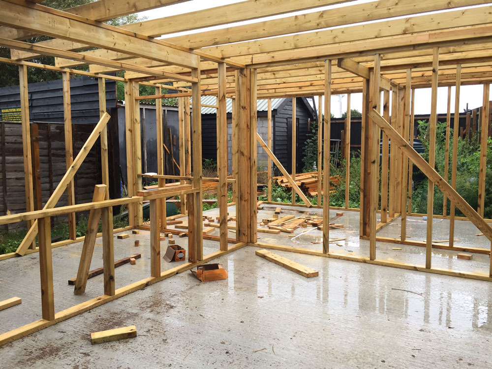 Structure erected