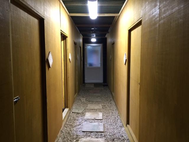 Rehab aviaries corridor