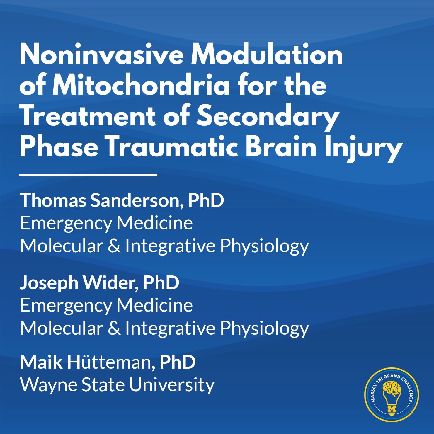 Research Thumbnail Template - Noninvasive Modulation of Mitochondria for the Treatment of Secondary Phase Traumatic Brain Injury - Sanderson.png