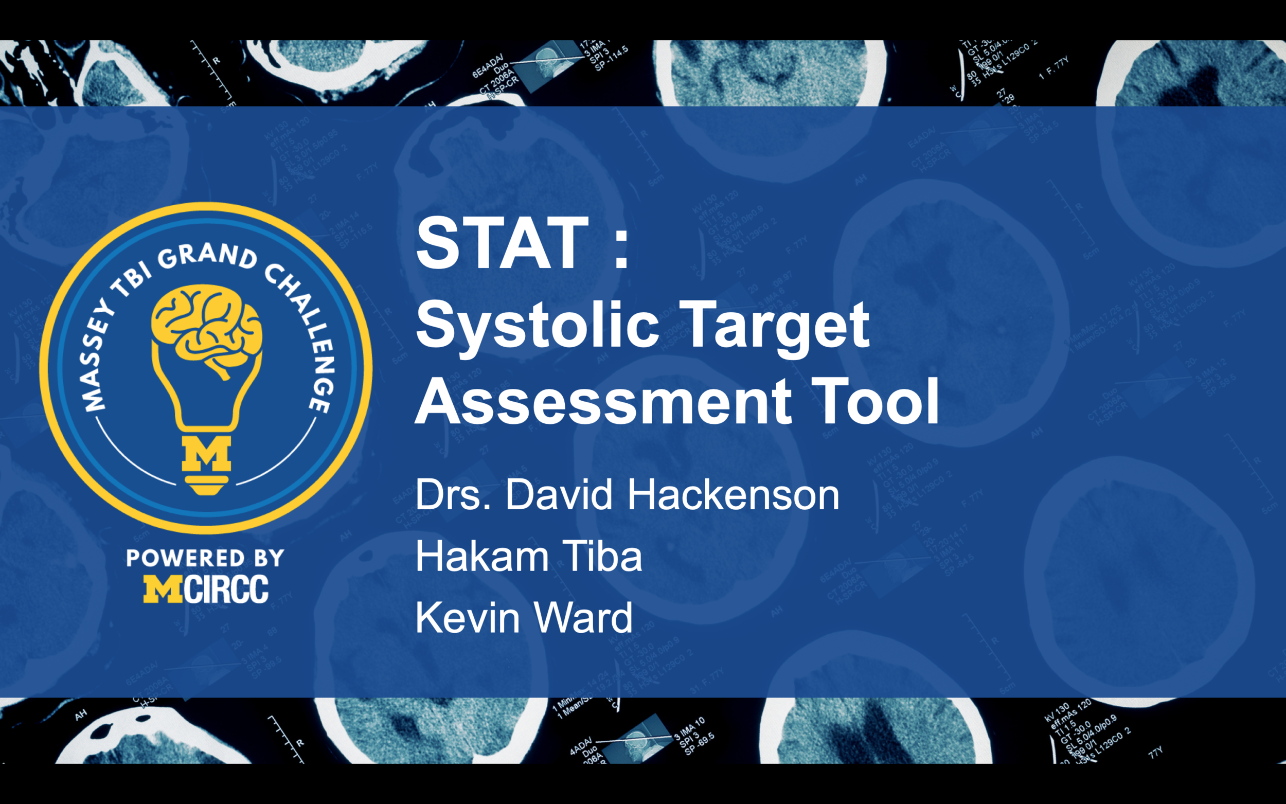 In this project, the group will refine and test the next iteration of their device that provides automated, targeted SBP monitoring: the systolic target assessment tool (STAT). The device will be capable of identifying current SBP, and most importantly, will provide a near continuous indication of a patient's pressure relative to a threshold SBP needed for optimal TBI management.