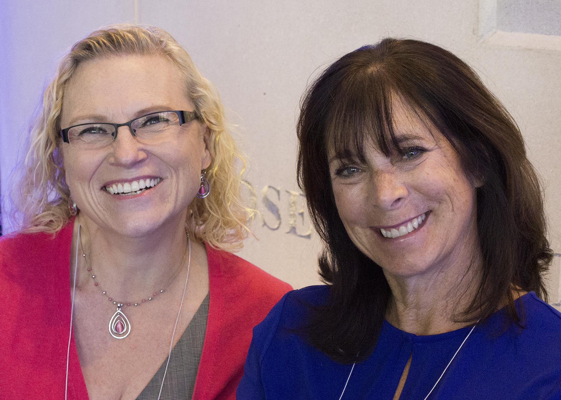 Denise Poirier (left) and Sue Wozniak (right)