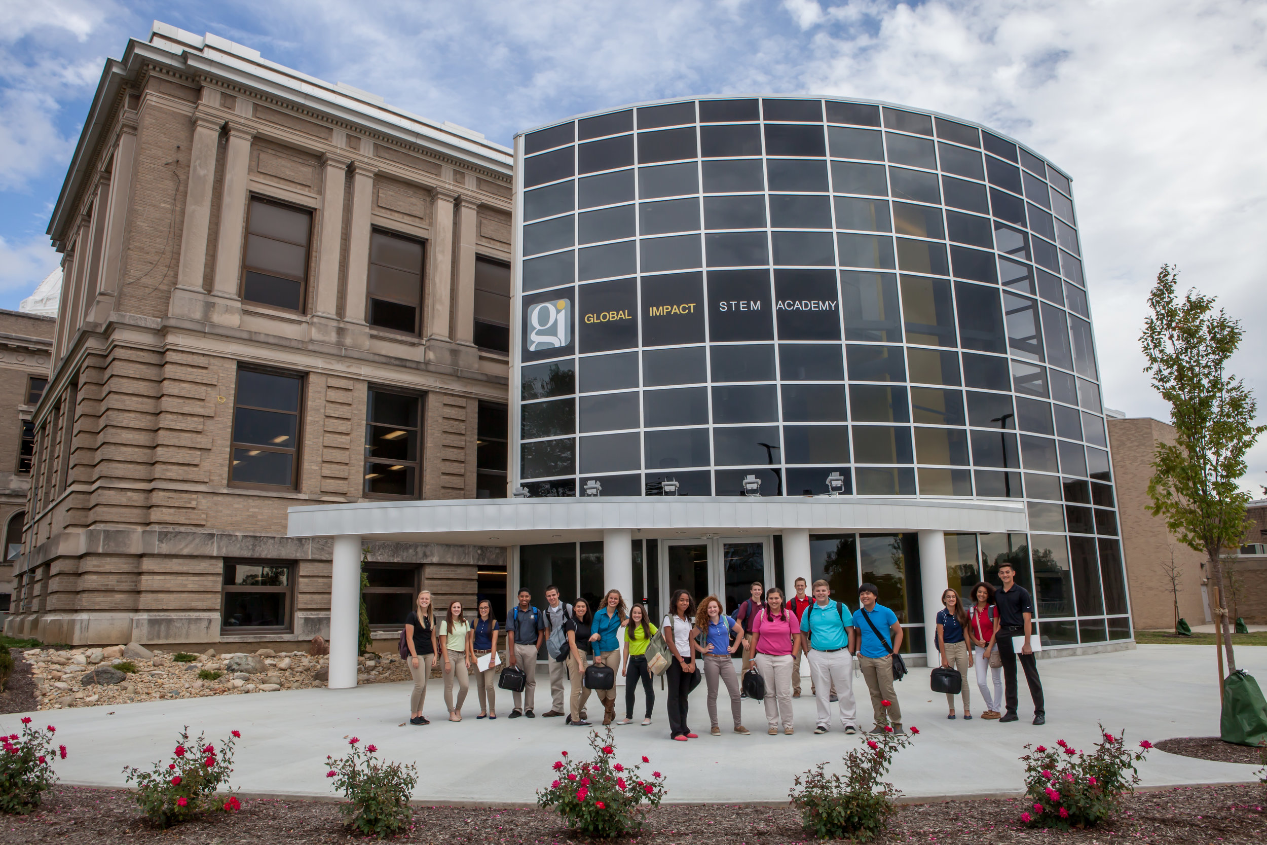 Pictured: Global Impact STEM Academy front entrance.
