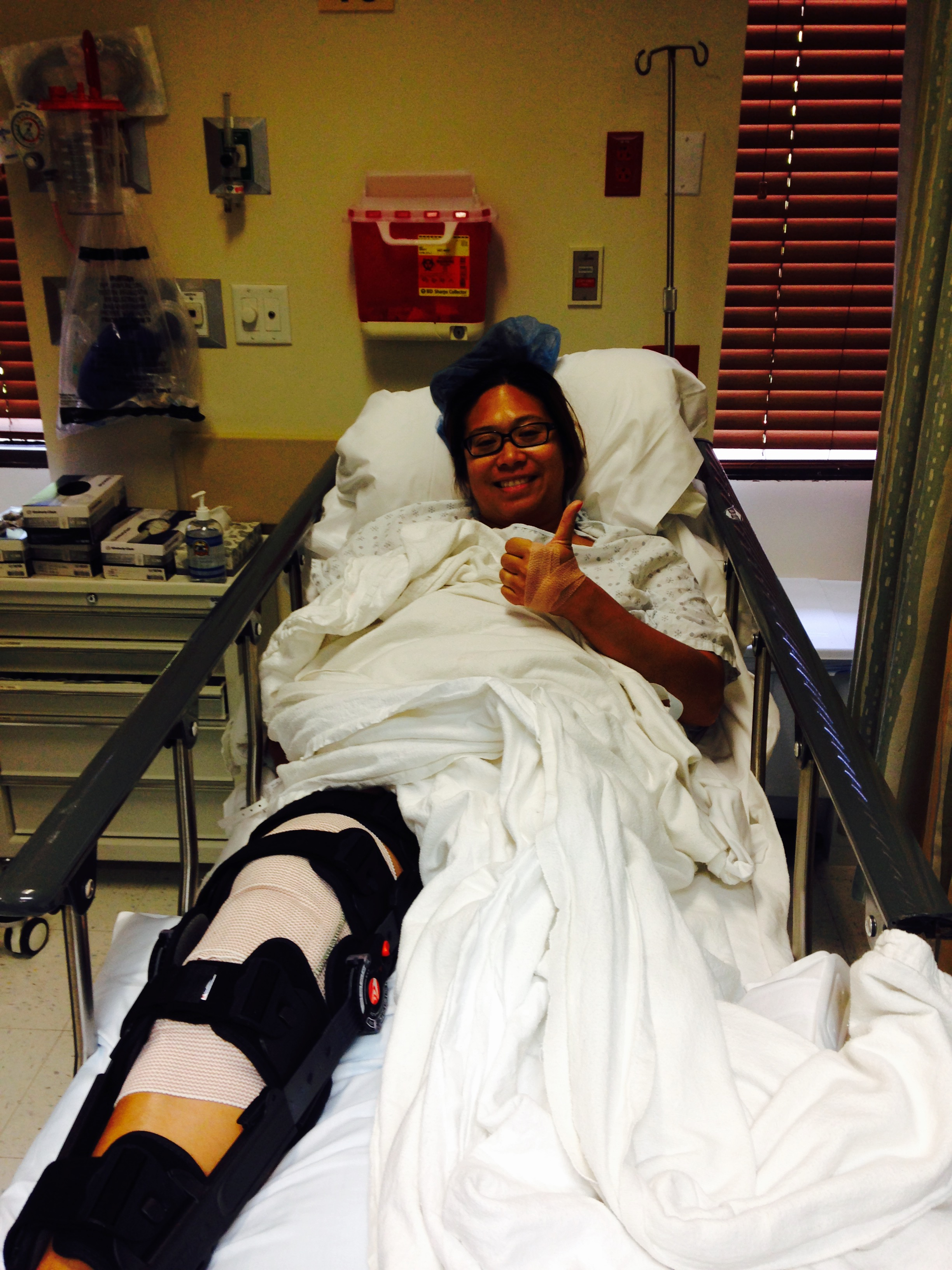 My 2nd ACL Surgery in September 2014.