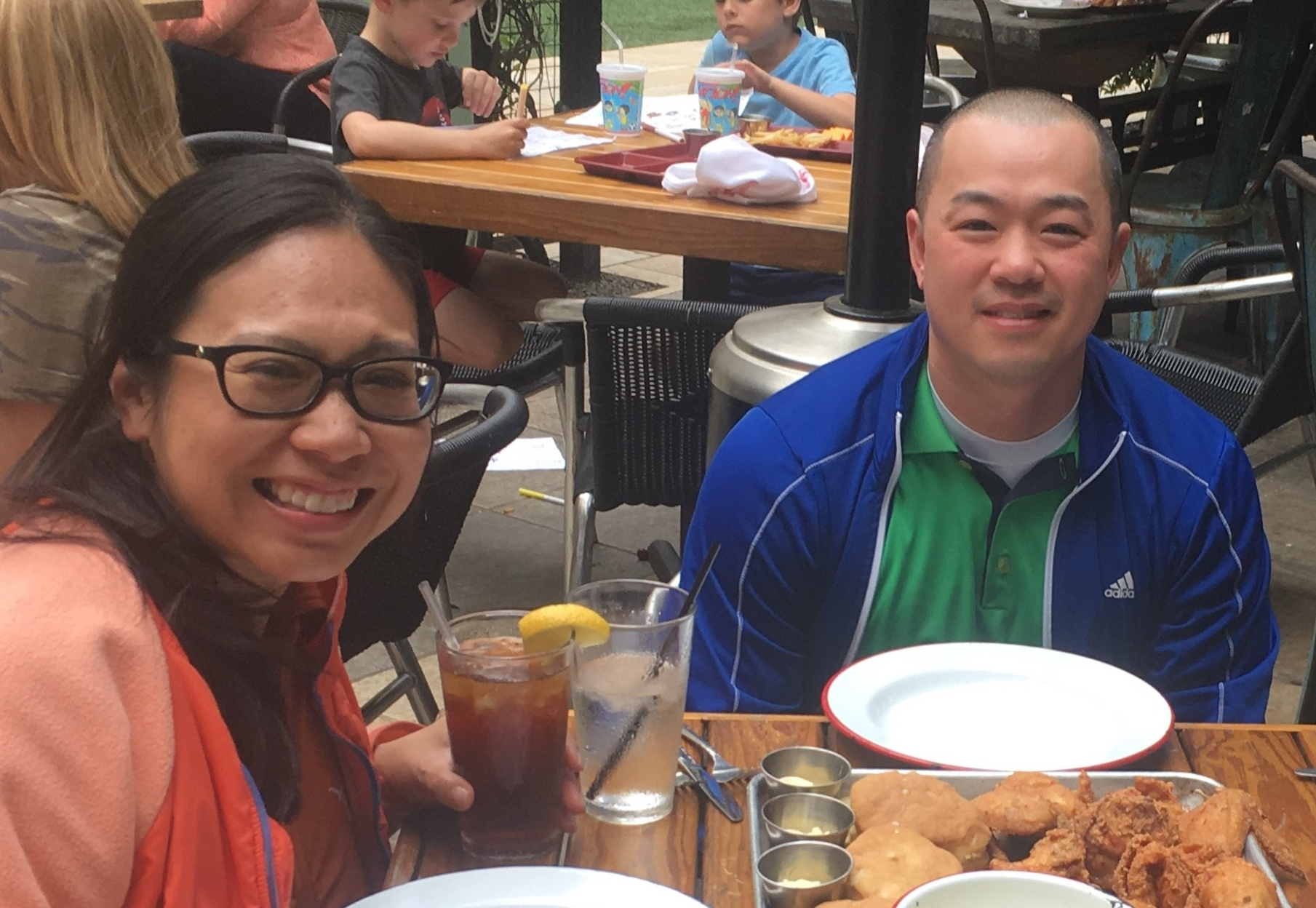 Introducing to Michigan Counselor and friend, Jeff Lip, to Southern Fried Chicken in Houston, Texas (March 2018).