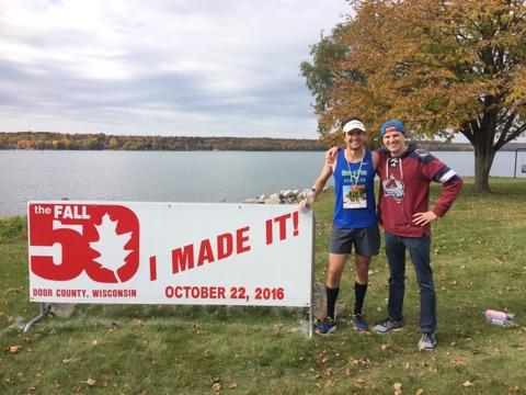 Dan Mills and I after the Door County Fall 50
