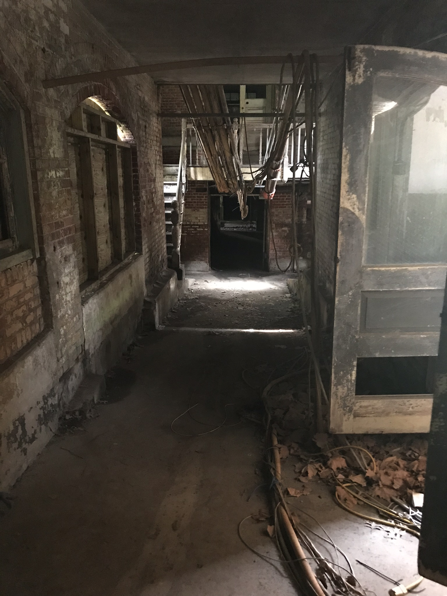 Hallway to the downstairs area…apparently that area haunted.