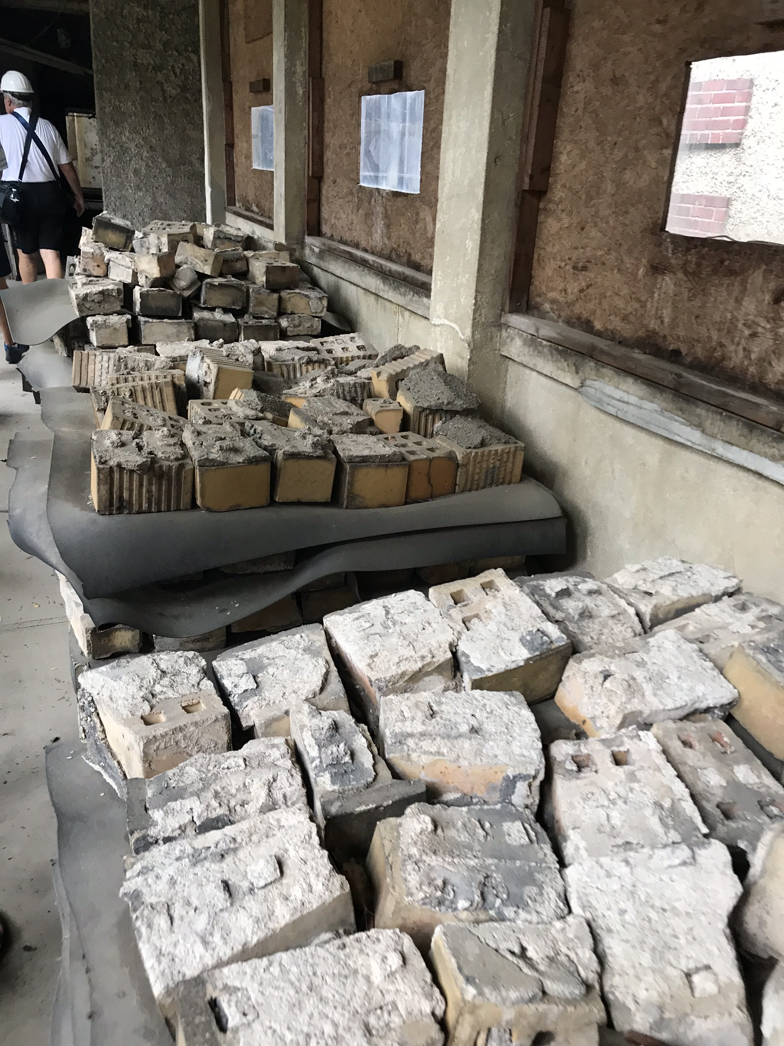 Bricks that will be used to restore the hospital. I believe they were from the outside of the building.