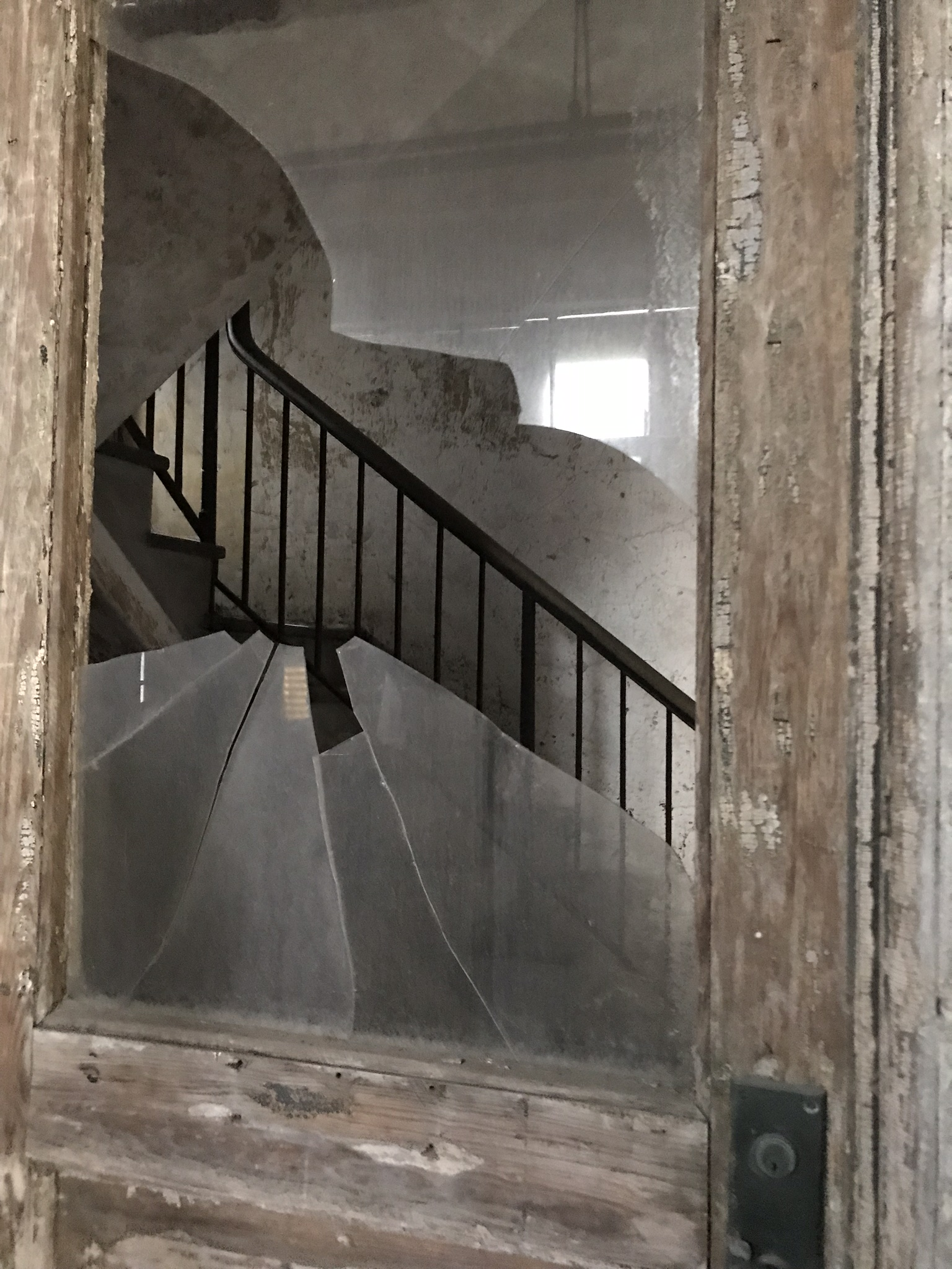 Staircase to the 3rd floor of the hospital.