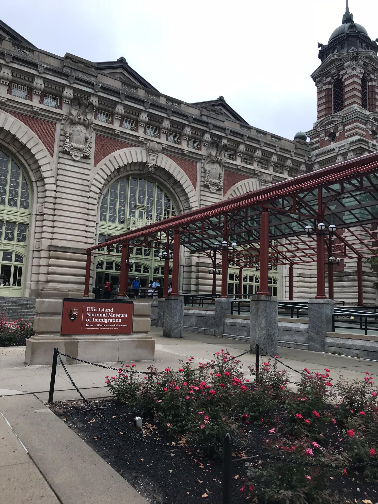 The renovated museum of Ellis Island.