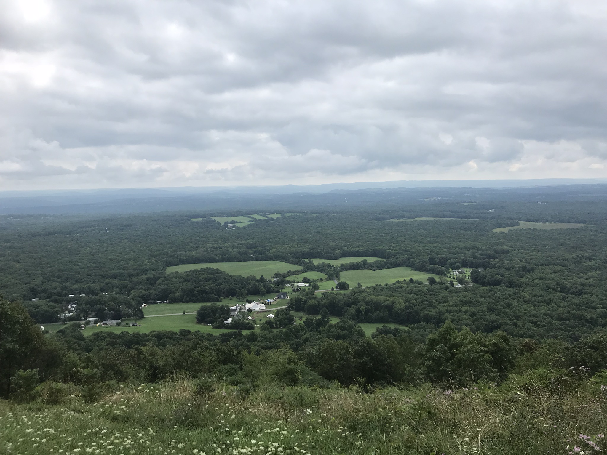 Looking South off the ridge.