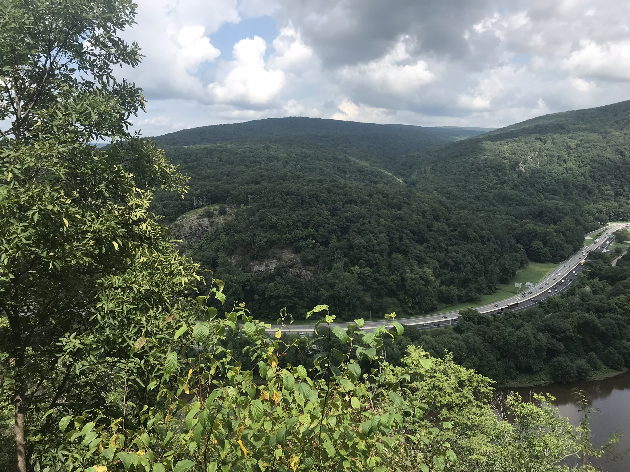 Delaware Water Gap and Route 80.