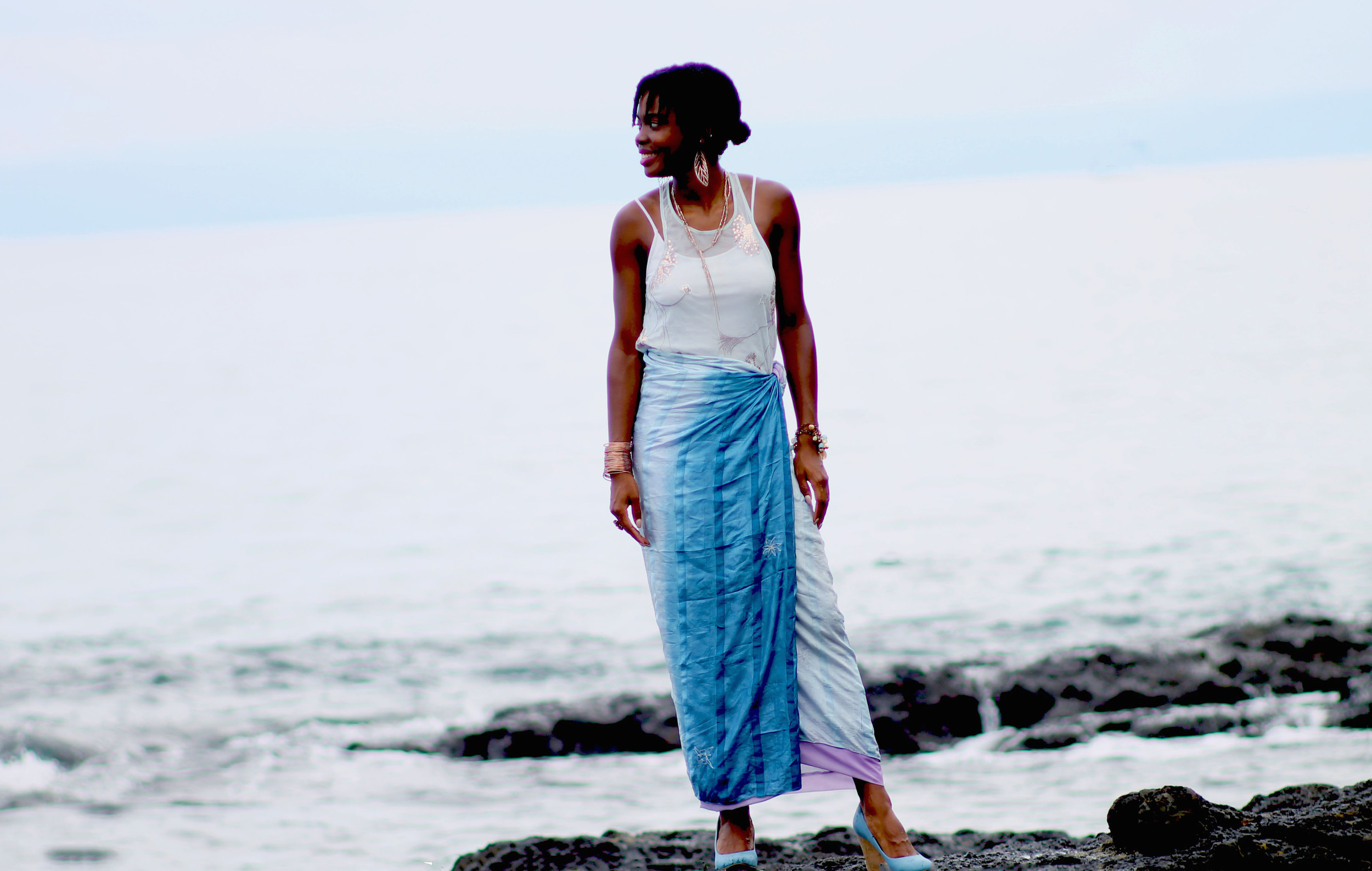 Tank: Free People; Skirt: Banana Republic; Shoes: Franco Sarto