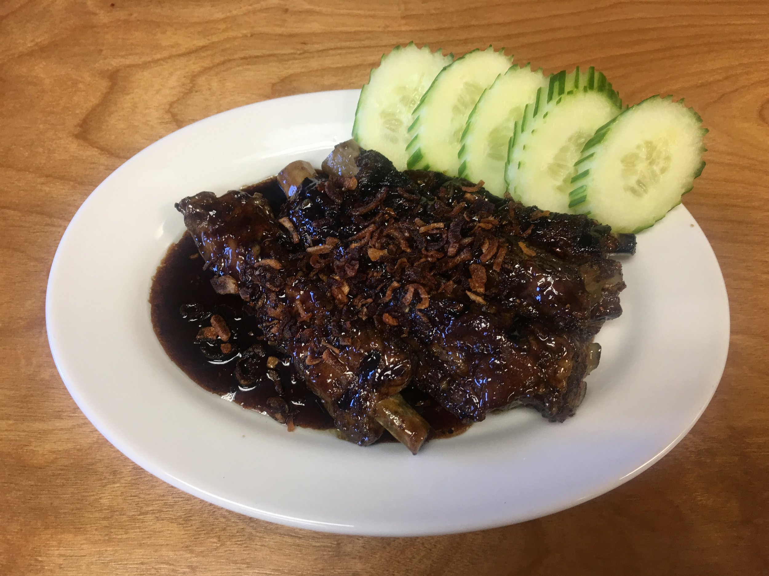 Sticky Ribs - We've previously done a boneless version. If you prefer one or the other ask us. One or both may be available.