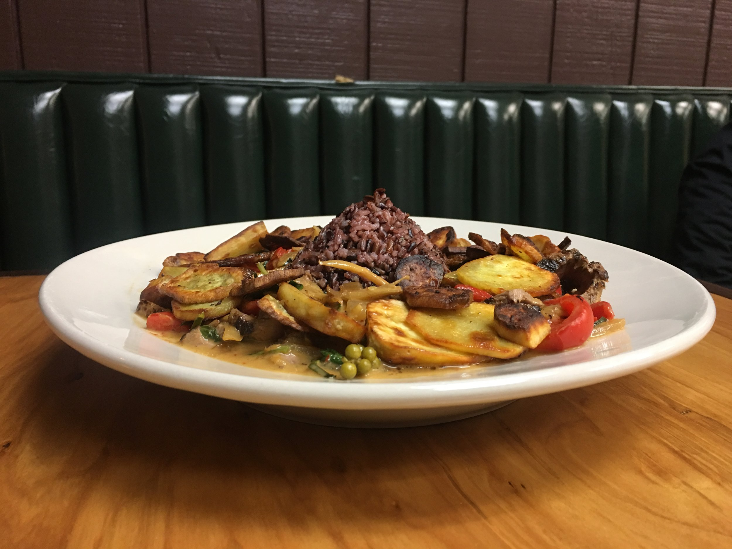 Pad Ped - This one here is pictured with steak and added sweet potato slices at customers request.