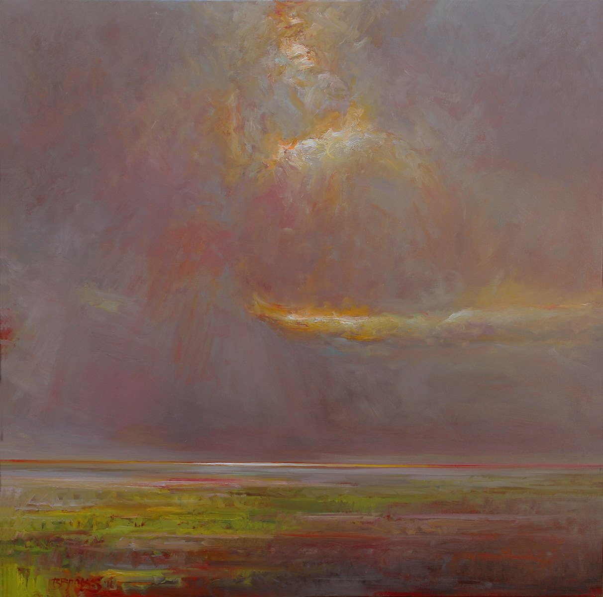 "REEMERGENCE, NO. 4    36"" x 36"" oil on canvas"