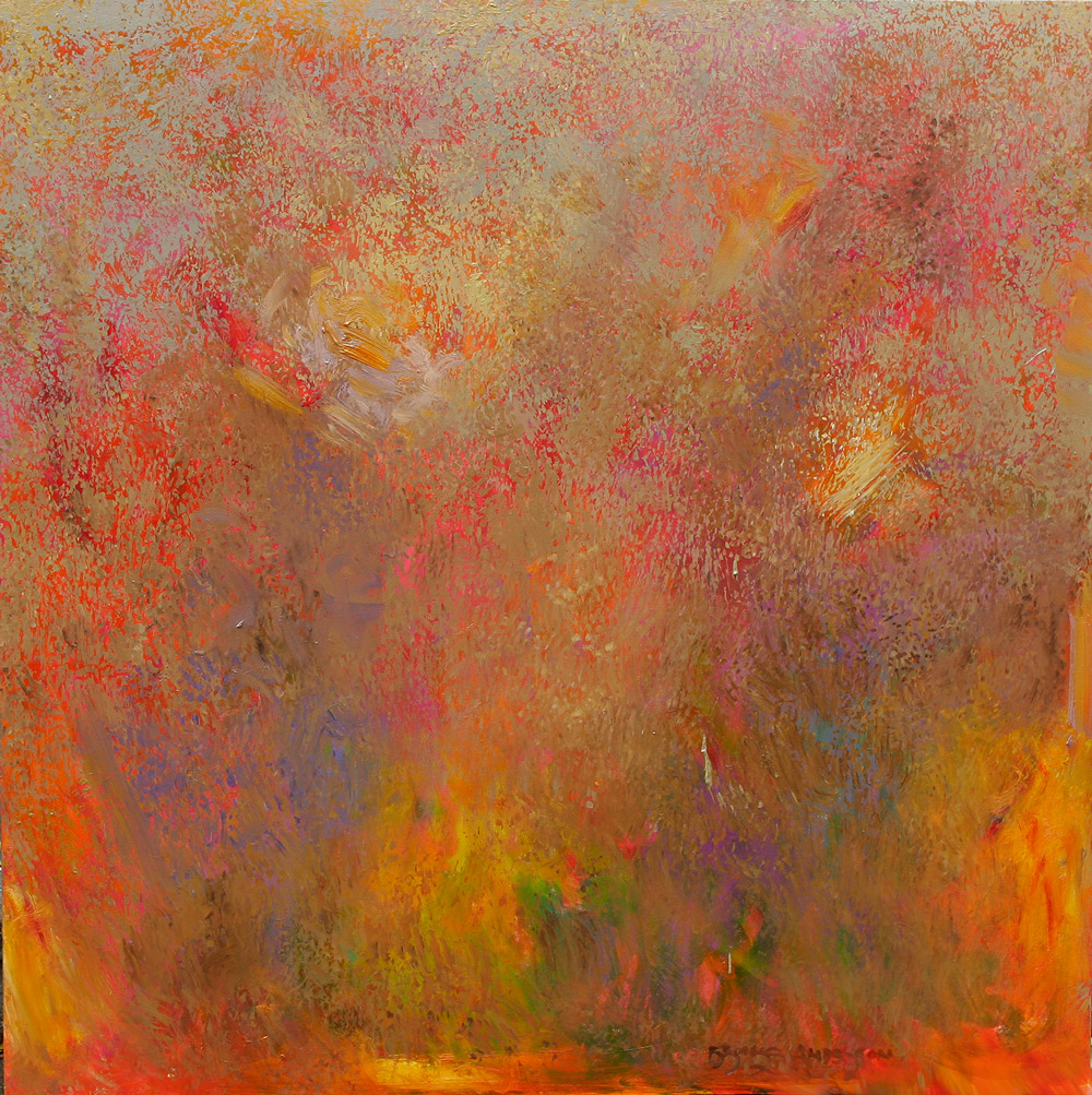 "SMOKE SIGNAL, NO. 2  oil on canvas 36"" x 36"""